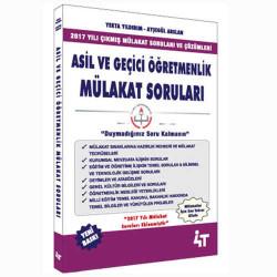 4T Yayınları - 4T Yayınları Asil ve Geçici Öğretmenlik Mülakat Soruları