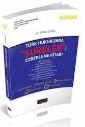 Savaş Yayınevi - Savaş Yayınları Türk Hukukunda Süreleri Ezberleme Kitabı