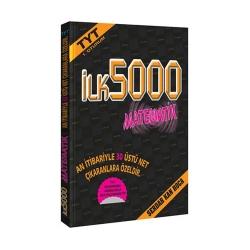 İlk5000 Yayınları - İlk5000 Yayınları 1. Oturum TYT Matematik Soru Bankası