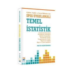 Nisan Kitabevi - Nisan Kitabevi Eğitim Sağlık ve Sosyal Bilimler için SPSS Uygulamalı Temel İstatistik