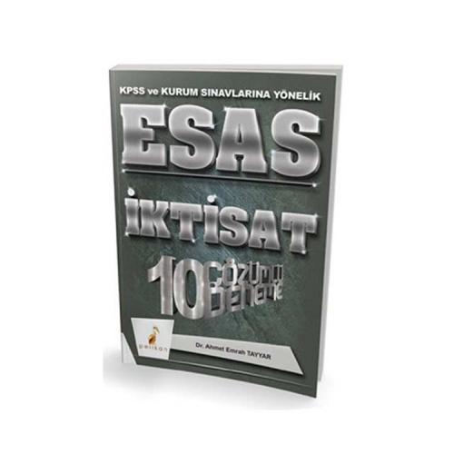Pelikan Yayıncılık 2018 KPSS ve Kurum Sınavlarına Yönelik ESAS İktisat 10 Çözümlü Deneme