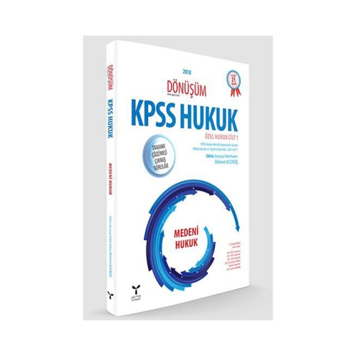 Umuttepe Yayınları Dönüşüm KPSS A Grubu Medeni Hukuk Tamamı Çözümlü Çıkmış Sorular