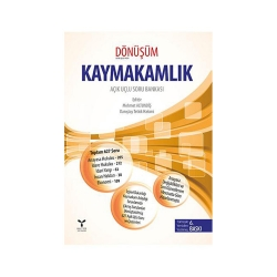 Umuttepe Yayınları - Umuttepe Yayınları Kaymakamlık Dönüşüm Açık Uçlu Soru Bankası