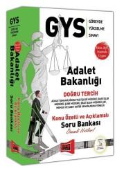 Yargı Yayınevi - Yargı Yayınları GYS Adalet Bakanlığı Doğru Tercih Konu Özetli ve Açıklamalı Soru Bankası