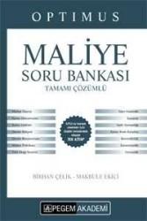 Pegem Akademi Yayıncılık - Pegem Yayınları KPSS A Grubu Optimus Maliye Tamamı Çözümlü Soru Bankası