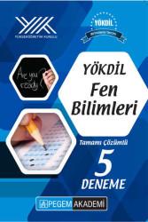 Pegem Akademi Yayıncılık - Pegem Yayınları YÖKDİL Fen Bilimleri Tamamı Çözümlü 5 Deneme