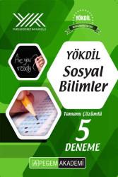 Pegem Akademi Yayıncılık - Pegem Yayınları YÖKDİL Sosyal Bilimleri Tamamı Çözümlü 5 Deneme