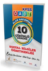 Pelikan Yayıncılık - Pelikan Yayınları 2017 ÖABT Sosyal Bilgiler Öğretmenliği Alan Savunması 10 Çözümlü Deneme
