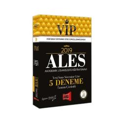 Yargı Yayınları - 2019 ALES VIP Yeni Sınav Sistemine Göre Tamamı Çözümlü 5 Deneme Yargı Yayınları