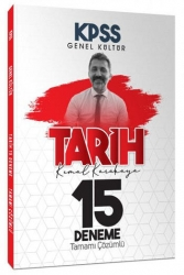 Yazarın Kendi Yayını - 2021 KPSS Tarih Tamamı Çözümlü 15 Deneme Sınavı Kemal Karakaya