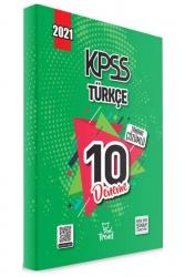 Yeni Trend Yayınları - 2021 KPSS Türkçe Tamamı Çözümlü 10 Deneme Yeni Trend Yayınları