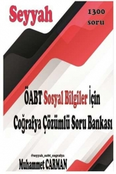 Muhammet Carman - 2021 ÖABT SEYYAH Sosyal Bilgiler için Coğrafya Çözümlü Soru Bankası Muhammet Carman