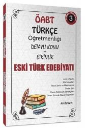 Ali Özbek - 2021 ÖABT Türkçe Öğretmenliği Eski Türk Edebiyatı Konu Anlatımlı 3. Kitap Ali Özbek