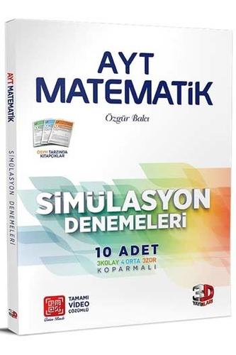 3D Yayınları AYT Matematik Simülasyon 10'lu Denemeleri