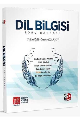 3D Yayınları Dil Bilgisi Tamamı Video Çözümlü Soru Bankası