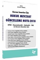 4T Yayınları - 4T Yayınları 2018 Hukuk Mevzuat Güncelleme Notu