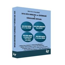 4T Yayınları - 4T Yayınları 2018 KPSS Soruları ve Çözümleri Güncelleme Notları