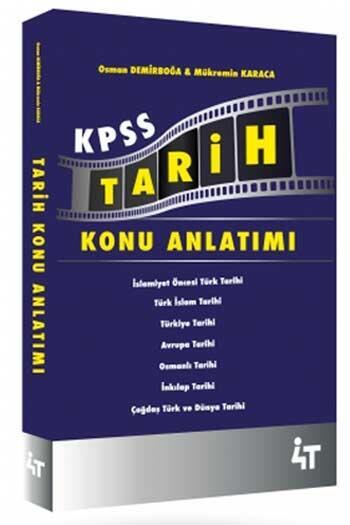 4T Yayınları - 4T Yayınları 2021 KPSS Tarih Konu Anlatımı