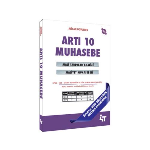 4T Yayınları Artı 10 Muhasebe