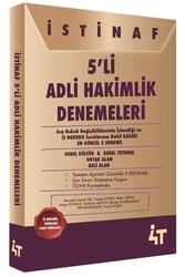 4T Yayınları - 4T Yayınları İstinaf 5 li Adli Hakimlik Denemeleri