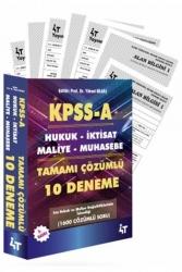 4T Yayınları - 4T Yayınları KPSS A Grubu Tamamı Çözümlü 10 Deneme