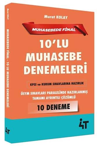 4T Yayınları KPSS ve Kurum Sınavları İçin Muhasebe 10'lu Denemeleri