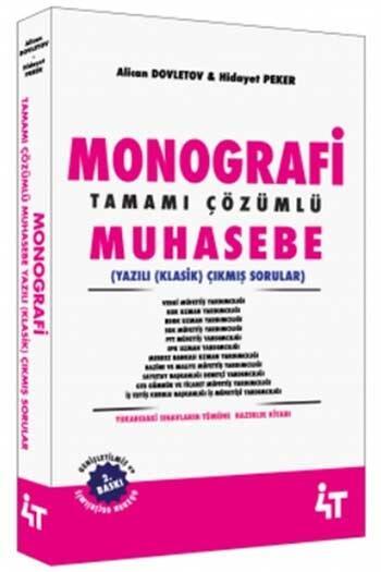 4T Yayınları - 4T Yayınları Monografi Tamamı Çözümlü Muhasebe Yazılı (Klasik) Çıkmış Sorular