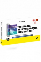 4T Yayınları - 4T Yayınları Tablolarla KPSS Vatandaşlık Ders Notları 2. Baskı