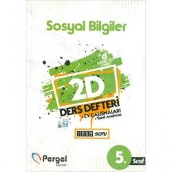 Pergel Yayınları - 5. Sınıf Sosyal Bilgiler 2D Ders Defteri Ev Çalışmaları Pergel Yayınları