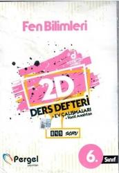Pergel Yayınları - 6. Sınıf Fen Bilimleri 2D Ders Defteri Ev Çalışmaları Pergel Yayınları