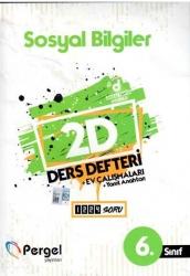 Pergel Yayınları - 6. Sınıf Sosyal Bilgiler 2D Ders Defteri Ev Çalışmaları Pergel Yayınları
