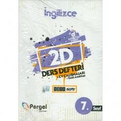 Pergel Yayınları - 7.Sınıf İngilizce 2D Ders Defteri Ev Çalışmaları Pergel Yayınları