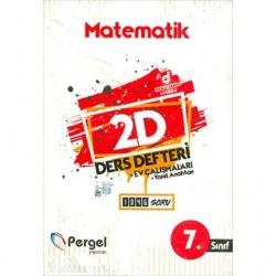 Pergel Yayınları - 7.Sınıf Matematik 2D Ders Defteri Ev Çalışmaları Pergel Yayınları