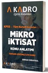 A Kadro Yayınları - A Kadro Yayınları KPSS A Grubu Mikro İktisat Konu Anlatımlı
