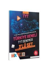 A Yayınları - A Yayınları 2021 Türkiye Geneli Çıkmış Sorular Denemesi 3 lü Set