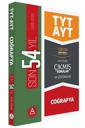 A Yayınları - A Yayınları TYT AYT Coğrafya Son 54 Yıl Konu Konu Çıkmış Sorular ve Çözümleri