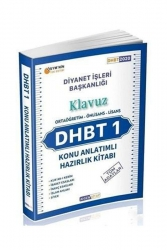 Ahsen Kitap - Ahsen Kitap 2020 DHBT 1 Klavuz Tüm Adaylar Konu Anlatımlı Hazırlık Kitabı