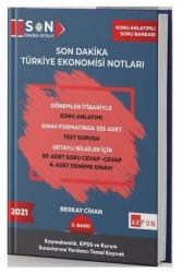 Akfon Yayınları - Akfon Yayınları 2021 Kaymakamlık KPSS Son Dakika Türkiye Ekonomisi Notları 3. Baskı