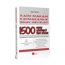 Akfon Yayınları - Akfon Yayınları Kaim Makam Kaymakamlık Sınav Mevzuatı 1500 Soru Çözümlü Test Kitabı