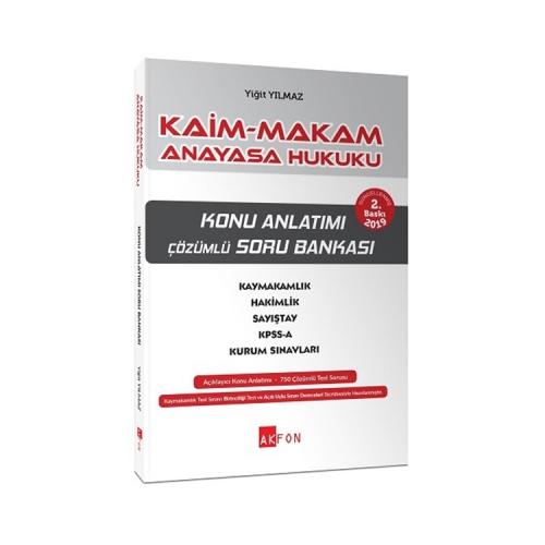 Akfon Yayınları Kaim Makam Konu Özetli Soru Bankası Anayasa Hukuku