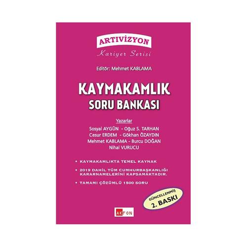 Akfon Yayınları Kaymakamlık Soru Bankası