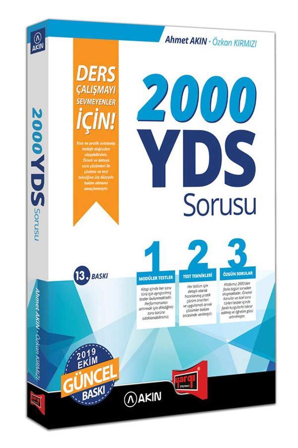 Akın Dil & Yargı Yayınları - Akın Dil & Yargı Yayınları 2000 YDS Sorusu Ders Çalışmayı Sevmeyenler İçin 13. Baskı