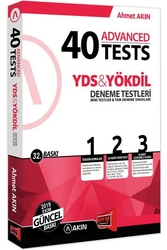 Akın Dil & Yargı Yayınları - Akın Dil & Yargı Yayınları YDS & YÖKDİL 40 Advanced Tests 32. Baskı