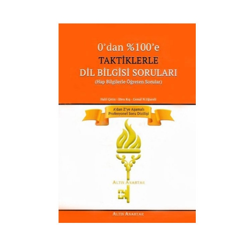 Altın Anahtar Yayınları Taktiklerle Dil Bilgisi Soruları