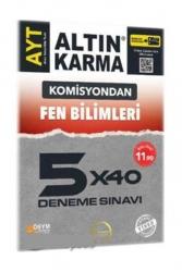 Altın Karma - Altın Karma Yayınları AYT Fen Bilimleri 5x40 Deneme Sınavı