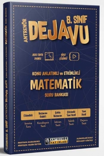 Antrenör Yayınları 8. Sınıf Matematik Dejavu Konu Anlatımlı ve Etkinlikli Soru Bankası