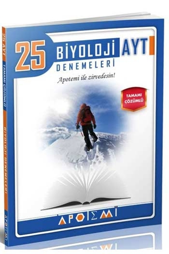 Apotemi Yayınları AYT Biyoloji Tamamı Çözümlü 25'li Denemeleri