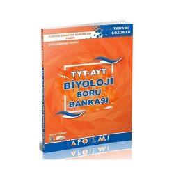 Apotemi Yayınları - Apotemi Yayınları TYT AYT Biyoloji Tamamı Çözümlü Soru Bankası