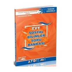 Apotemi Yayınları - Apotemi Yayınları YKS 1. Oturum TYT Sosyal Bilimler Tamamı Çözümlü Soru Bankası