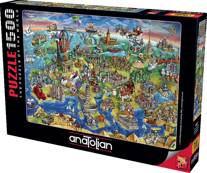 Anatolian - Avrupa Haritası / European World